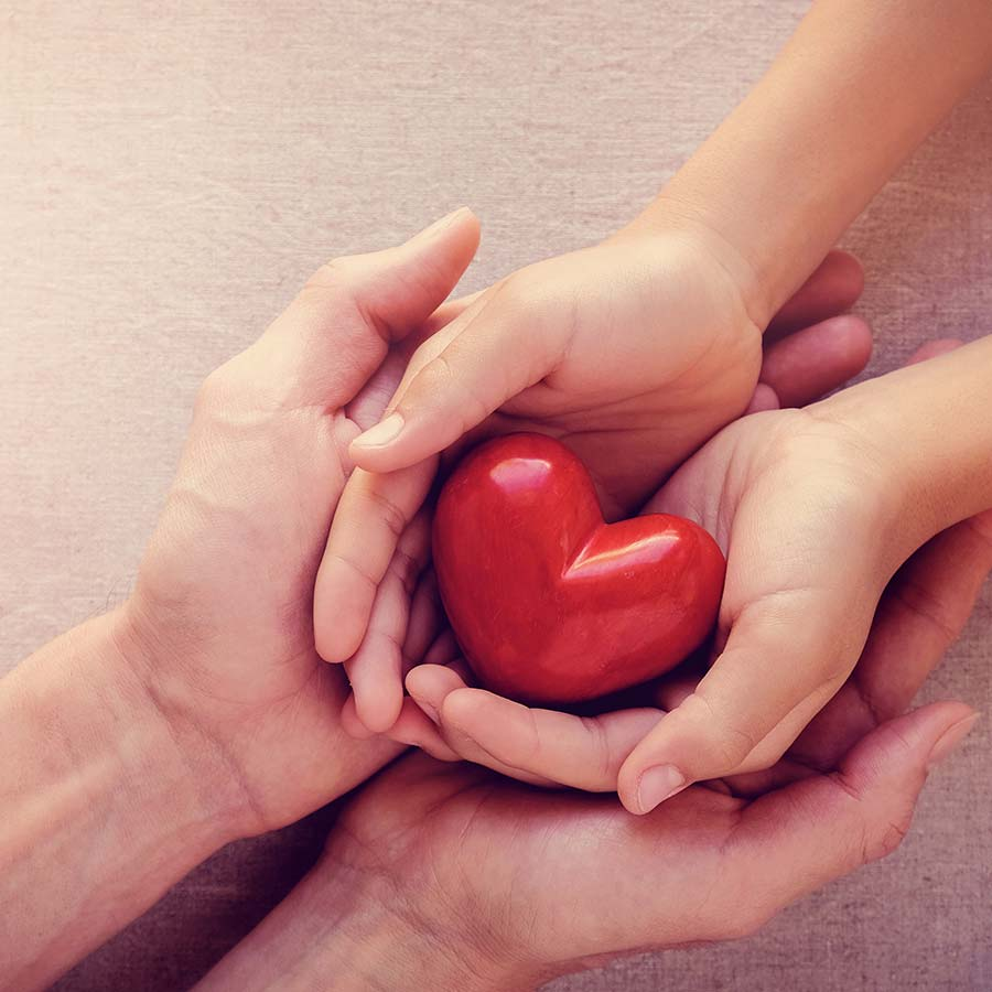 Community Checking Hands Holding Heart Lake Central Bank