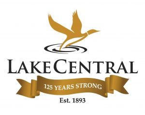Lake Central 125 Years Strong Logo