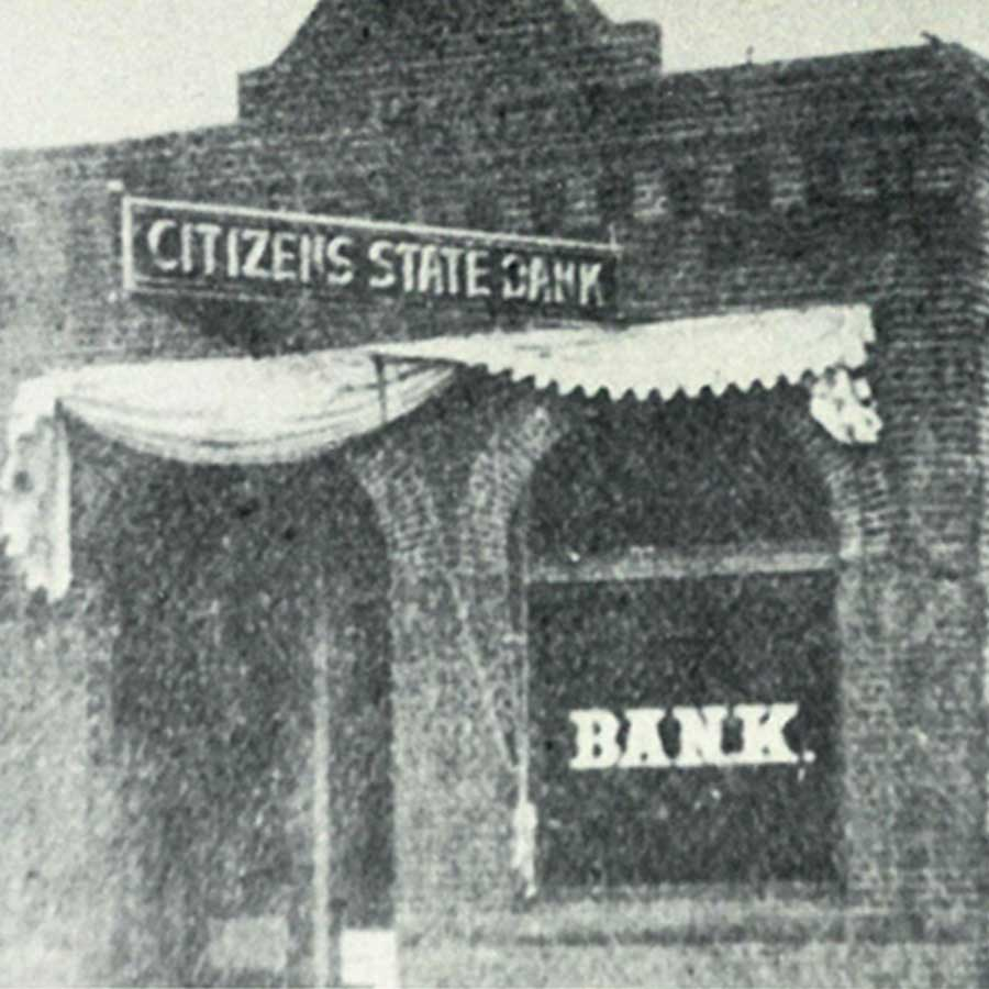 Square Image Lake Central Bank History Citizens State Bank 1907 1922
