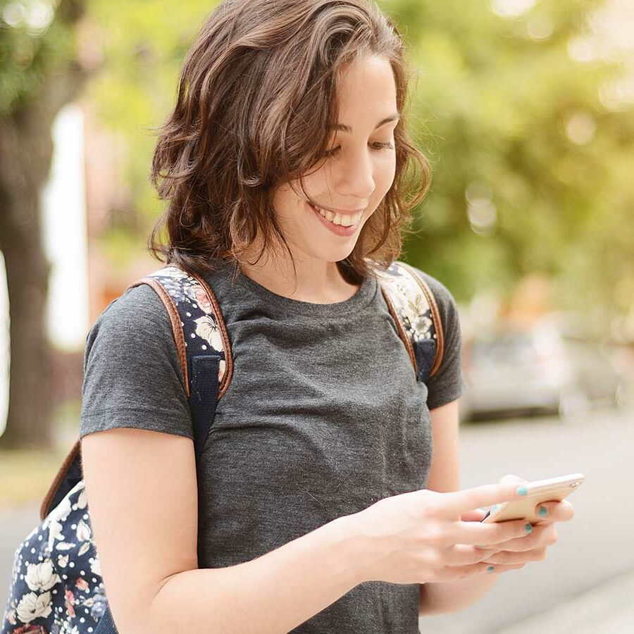 Credit Builder Loans Young Lady Looking At Phone Lake Central Bank